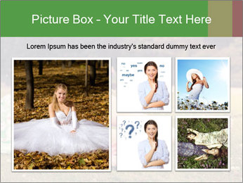 Woman Rests On Grass PowerPoint Template - Slide 19