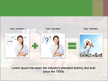Woman Rests On Grass PowerPoint Template - Slide 22