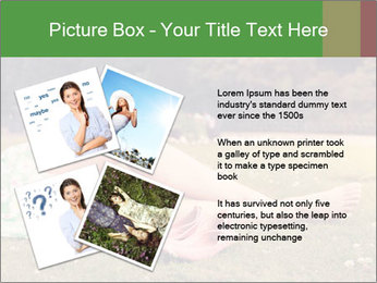 Woman Rests On Grass PowerPoint Template - Slide 23