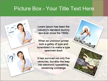 Woman Rests On Grass PowerPoint Template - Slide 24