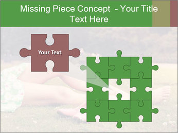 Woman Rests On Grass PowerPoint Template - Slide 45