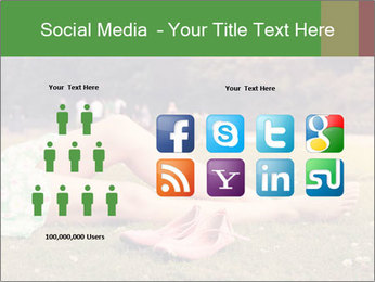 Woman Rests On Grass PowerPoint Template - Slide 5