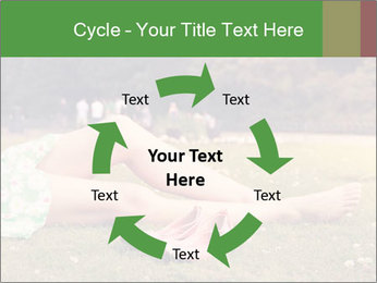 Woman Rests On Grass PowerPoint Template - Slide 62