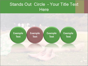 Woman Rests On Grass PowerPoint Template - Slide 76