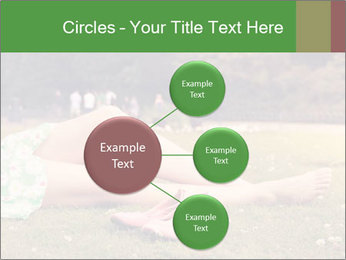 Woman Rests On Grass PowerPoint Template - Slide 79