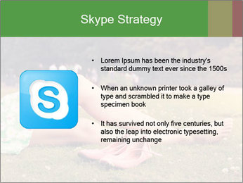 Woman Rests On Grass PowerPoint Template - Slide 8