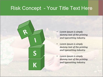 Woman Rests On Grass PowerPoint Template - Slide 81