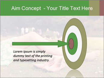 Woman Rests On Grass PowerPoint Template - Slide 83