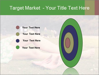 Woman Rests On Grass PowerPoint Template - Slide 84