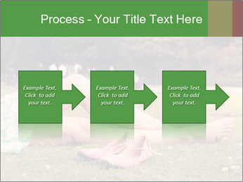 Woman Rests On Grass PowerPoint Template - Slide 88