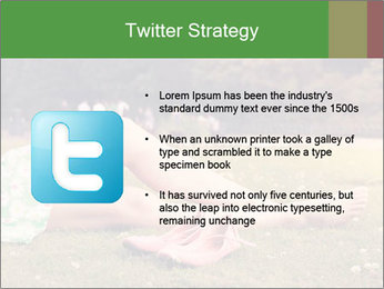 Woman Rests On Grass PowerPoint Template - Slide 9