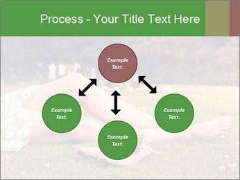 Woman Rests On Grass PowerPoint Template - Slide 91
