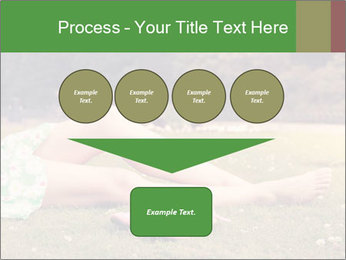 Woman Rests On Grass PowerPoint Template - Slide 93