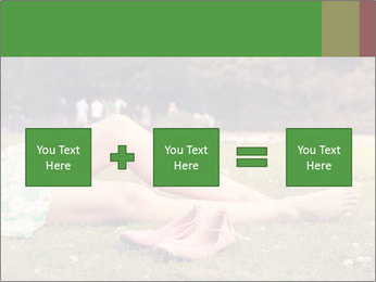 Woman Rests On Grass PowerPoint Template - Slide 95