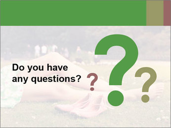 Woman Rests On Grass PowerPoint Template - Slide 96