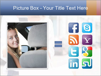Woman Writes Message PowerPoint Template - Slide 21