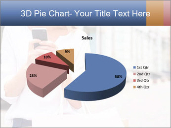 Woman Writes Message PowerPoint Template - Slide 35