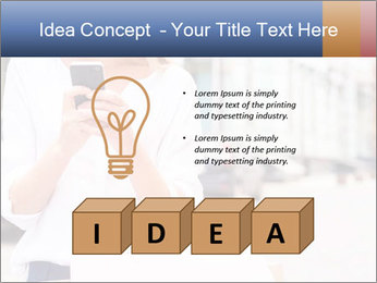 Woman Writes Message PowerPoint Template - Slide 80