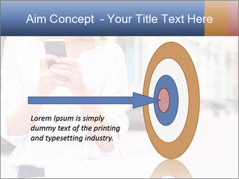 Woman Writes Message PowerPoint Template - Slide 83