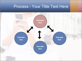 Woman Writes Message PowerPoint Template - Slide 91