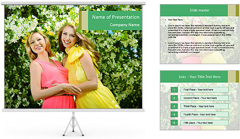 Two Mature Women PowerPoint Template