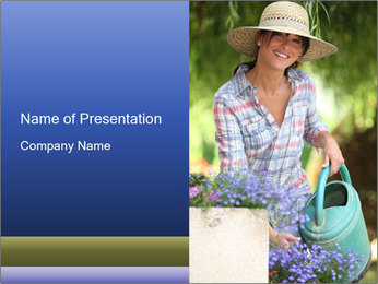 Gilrl PowerPoint Template - Slide 1