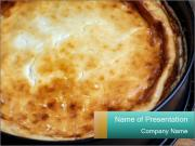 Warm home-made cheesecake PowerPoint Templates
