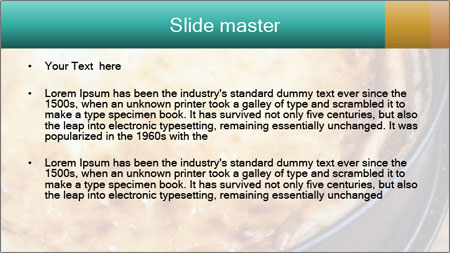 Warm home-made cheesecake PowerPoint Template - Slide 2