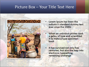 Ghanaian people at the market PowerPoint Template - Slide 13