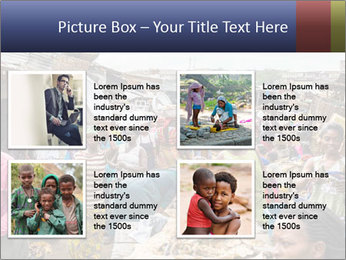 Ghanaian people at the market PowerPoint Template - Slide 14