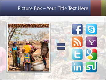 Ghanaian people at the market PowerPoint Template - Slide 21