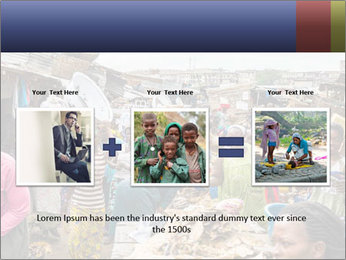 Ghanaian people at the market PowerPoint Template - Slide 22