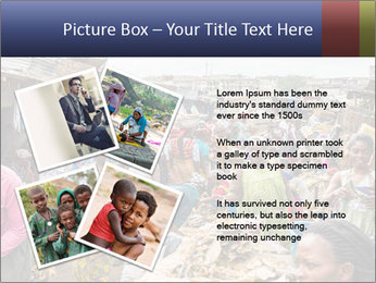 Ghanaian people at the market PowerPoint Template - Slide 23