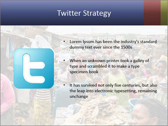 Ghanaian people at the market PowerPoint Template - Slide 9