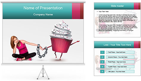 Woman handcuffed PowerPoint Template