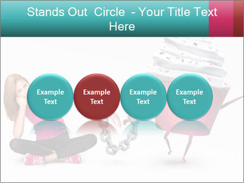 Woman handcuffed PowerPoint Template - Slide 76