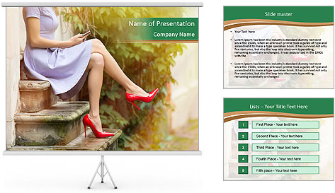 Fashionable woman PowerPoint Template