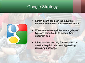 Group of cool teenagers PowerPoint Template - Slide 10