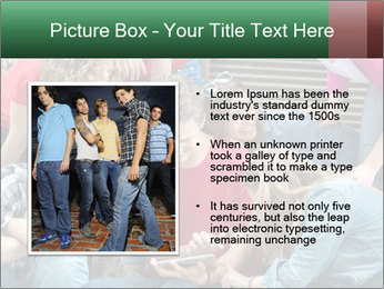 Group of cool teenagers PowerPoint Template - Slide 13