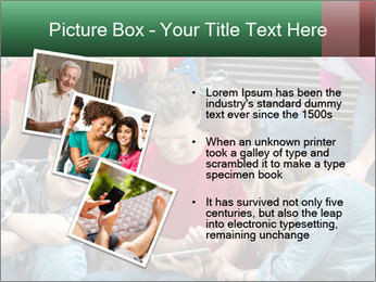 Group of cool teenagers PowerPoint Template - Slide 17