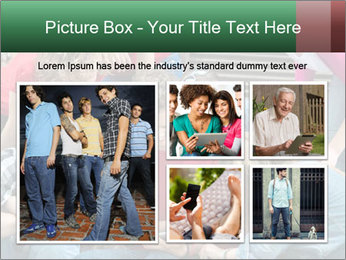 Group of cool teenagers PowerPoint Template - Slide 19