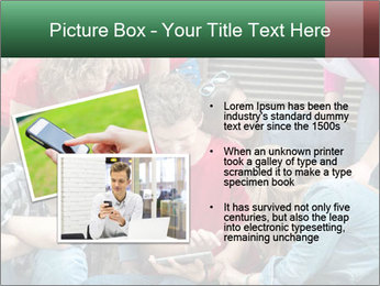 Group of cool teenagers PowerPoint Template - Slide 20