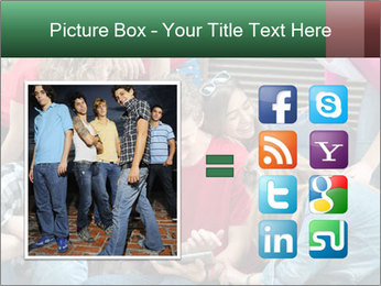 Group of cool teenagers PowerPoint Template - Slide 21