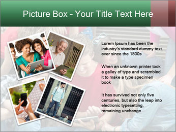 Group of cool teenagers PowerPoint Template - Slide 23
