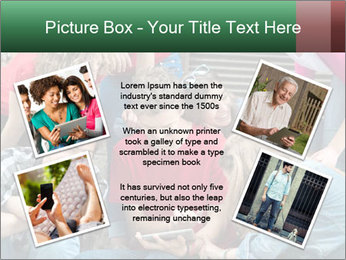 Group of cool teenagers PowerPoint Template - Slide 24