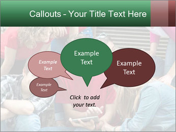 Group of cool teenagers PowerPoint Template - Slide 73