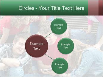 Group of cool teenagers PowerPoint Template - Slide 79