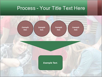 Group of cool teenagers PowerPoint Template - Slide 93