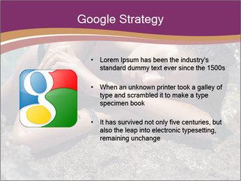 Carefree beautiful brunette PowerPoint Template - Slide 10
