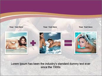 Carefree beautiful brunette PowerPoint Template - Slide 22